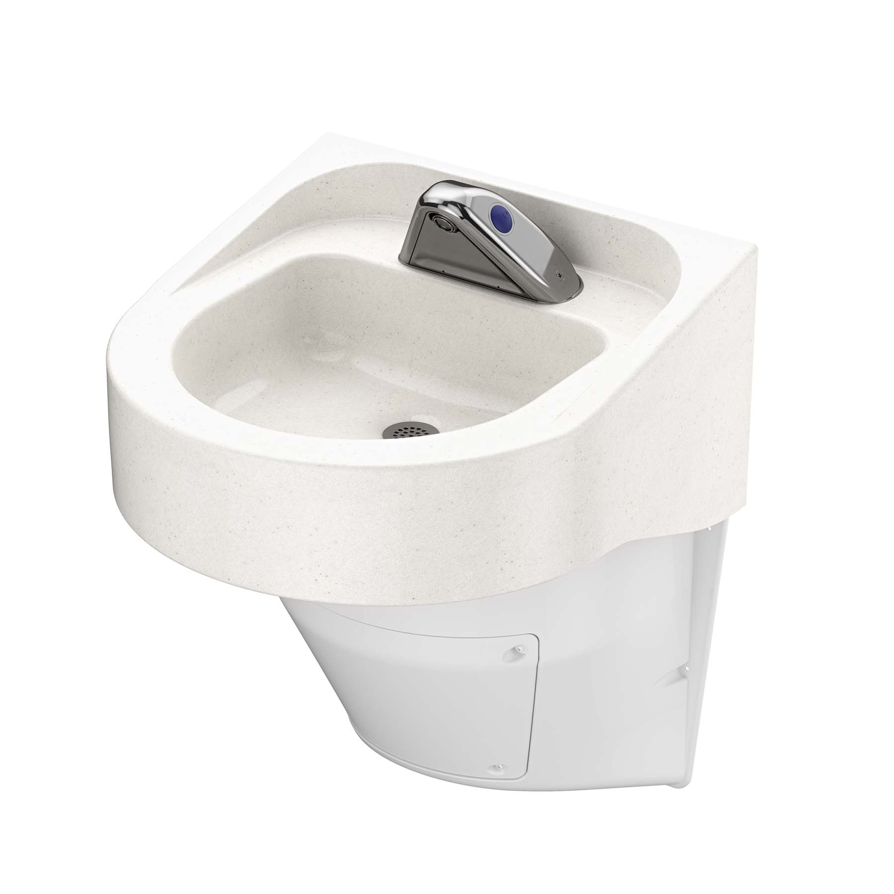 Ligature Resistant Sink and Trap Cover - Side Angle